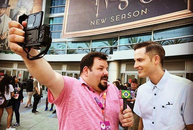 Imagens da gravação do vídeo com Sean Cannell.